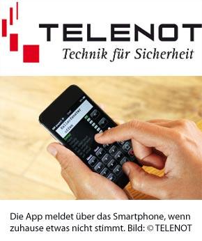 Alarmanlagen-App von TELENOT